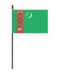 Turkmenistan Country Hand Flag - Small.